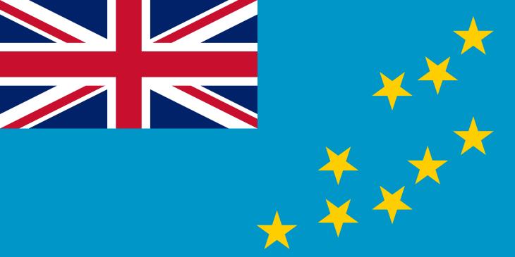 The flag of Tuvalu.