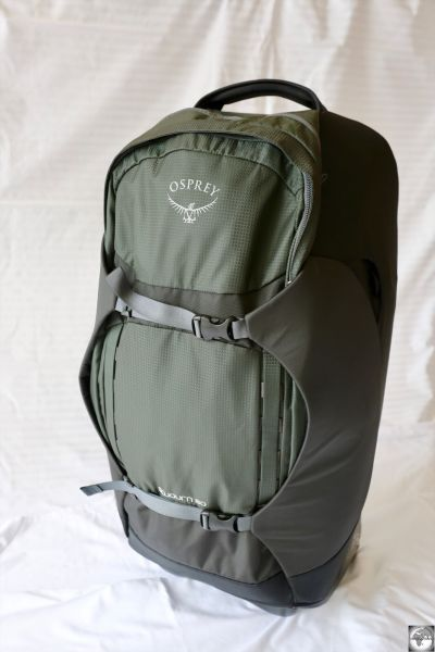 My replacement backpack, the Osprey Sojourn 80 L.