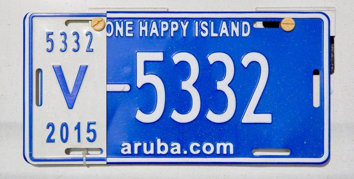 Aruba License Plate