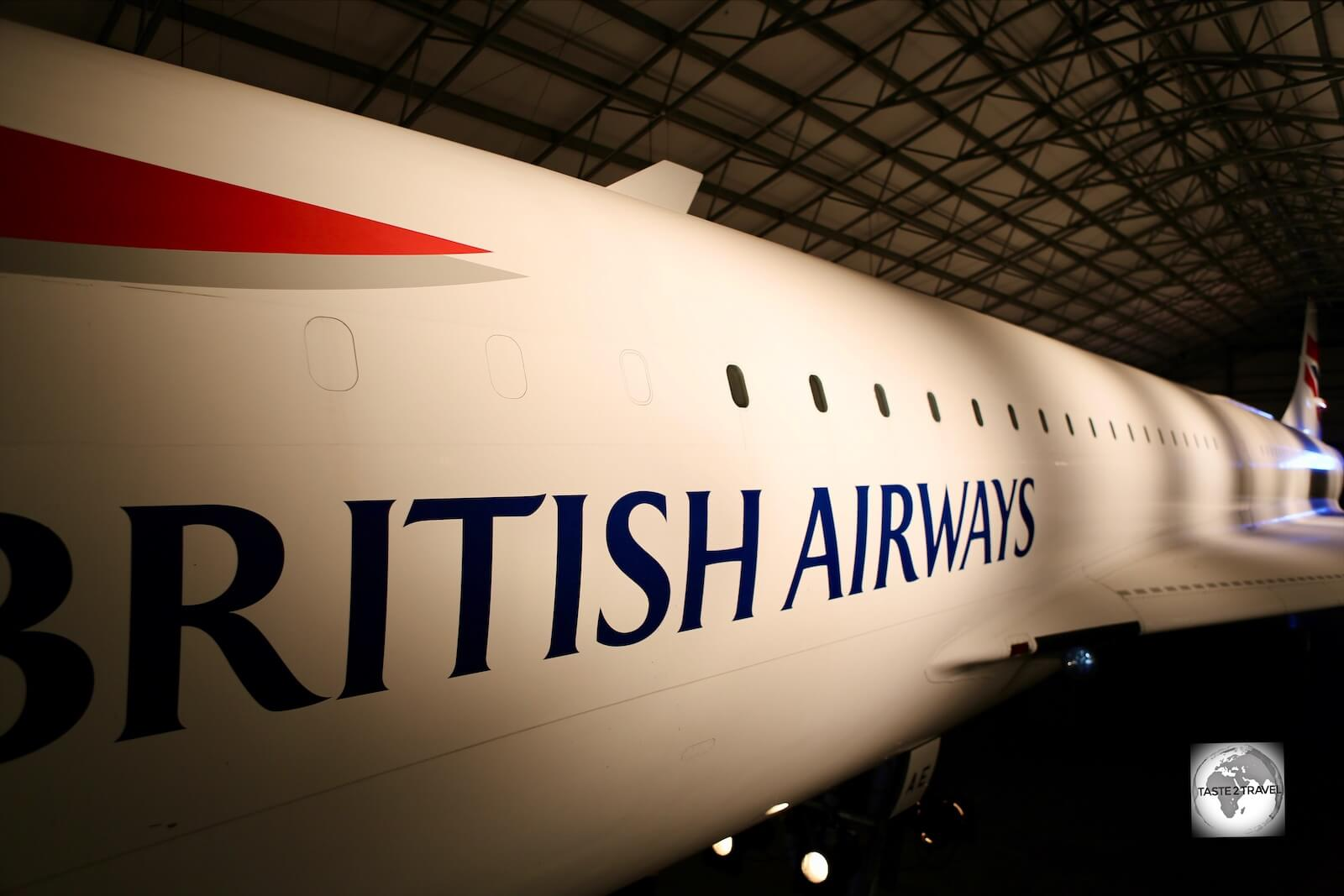 The British Airways Concorde which is open to visitors at the Barbados Concorde Experience.