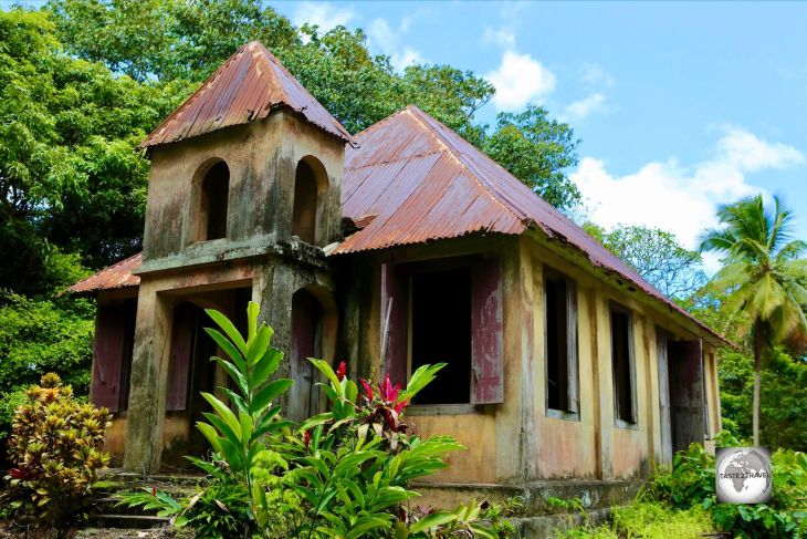 The abandoned Methodist Church at Hampstead, Dominica.