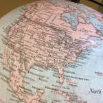 North America Globe Map