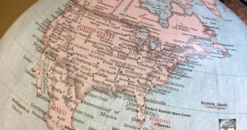 North America Globe Map
