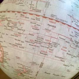 Pacific Globe Map