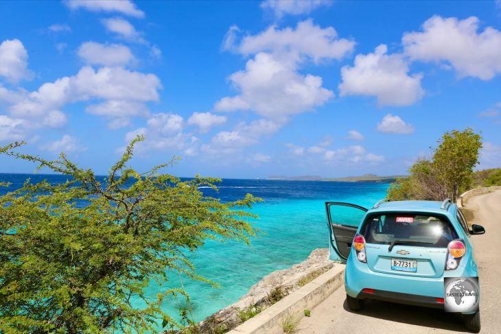 Rental car on Bonaire.