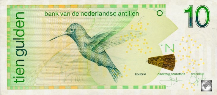 The Antilles Guilder is the official currency in the Dutch-controlled Sint Maarten.