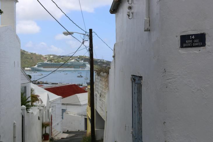 A laneway in Charlotte Amalie.