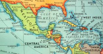 Map of Mexico and Central America