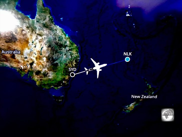 Onboard Air NZ flight NZ912 from Sydney to Norfolk Island.