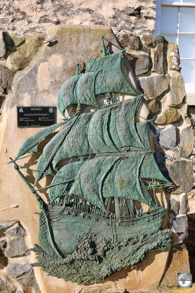 A memorial to the HMS Sirius in Kingston.