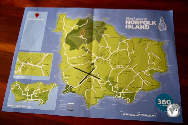 Distances on Norfolk Island are short, with most places being a 10-minute drive from Burnt Pine.
