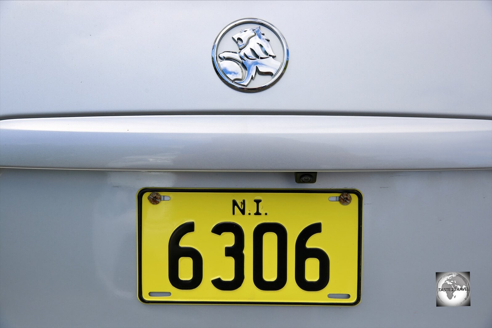 A Norfolk Island license plate.
