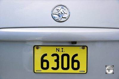 A Norfolk Island license plate.