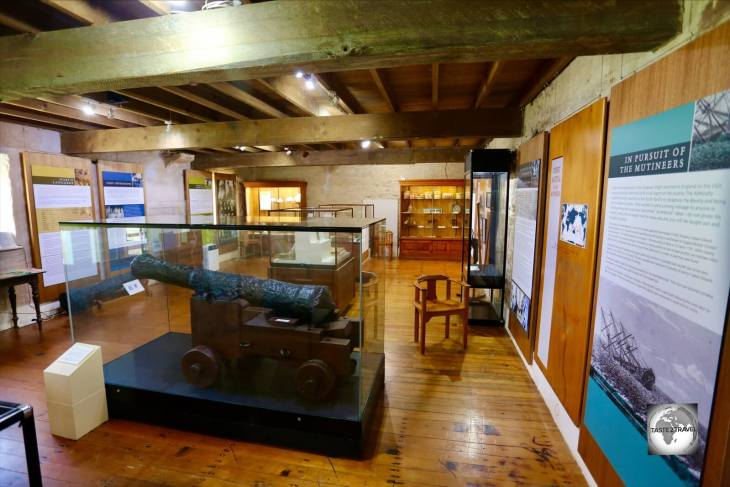 The canon from the HMS Bounty is one of the main exhibits at the Norfolk Island Pier Store museum.