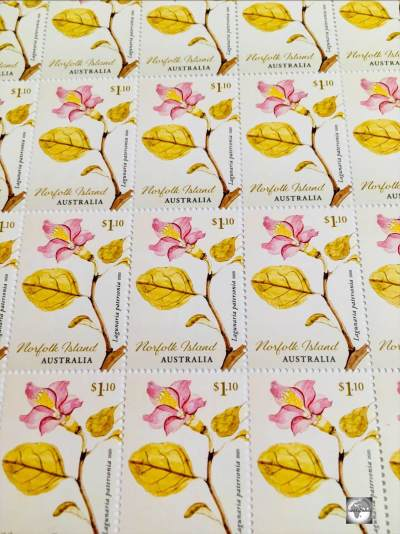 "Norfolk Island Stamps - ""Early Botanical Art""."