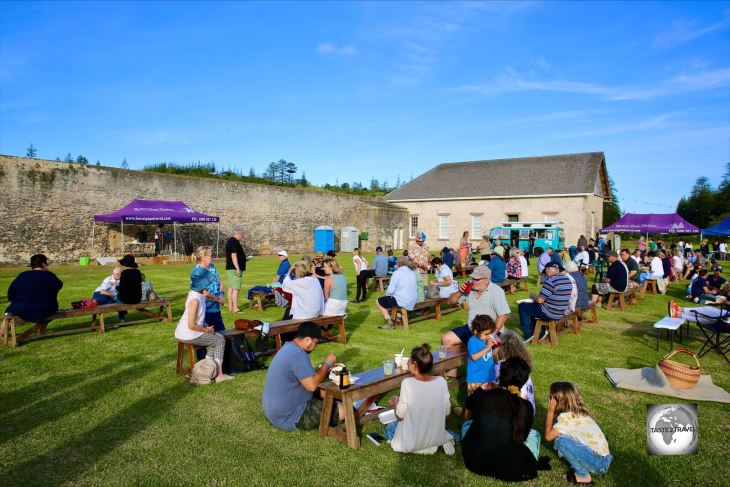 A Thanksgiving food festival, held in the ruins of the former prison, on Norfolk Island.