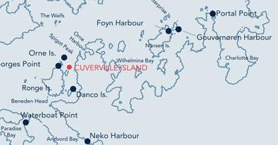 Cuverville Island location map.
