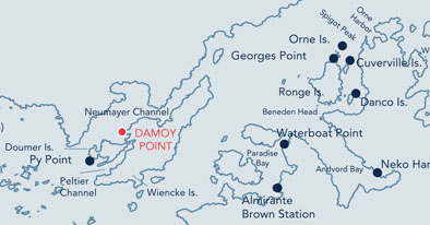 Damoy Point location map.