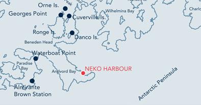 Neko Harbour location map.