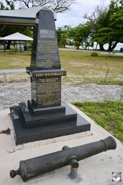 The Home Island WWII memorial.
