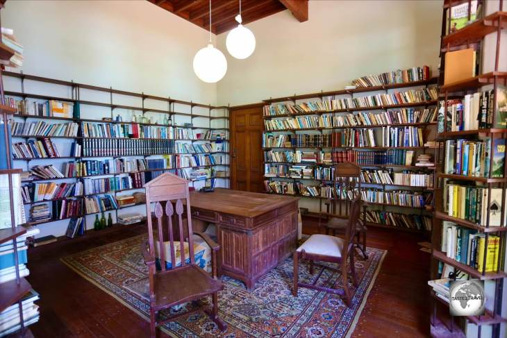 The library at Oceania House, Home Island, Cocos (Keeling) Islands.