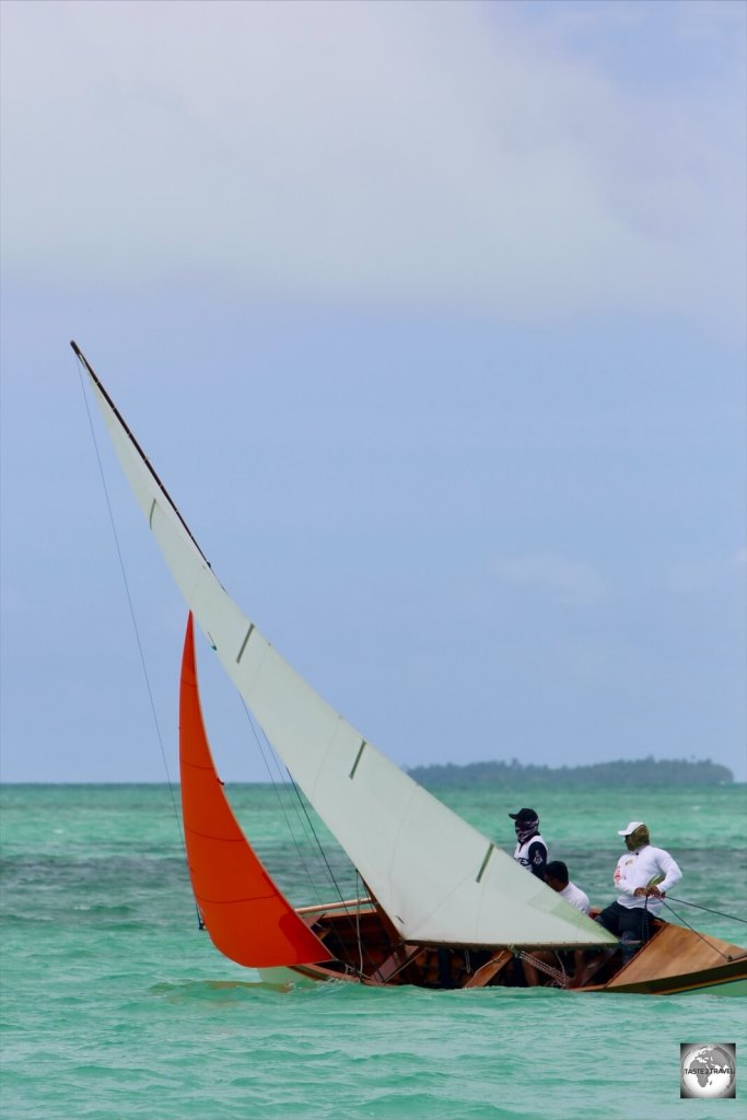 The Jukong was originally developed to transport coconuts across the shallow waters of the lagoon.