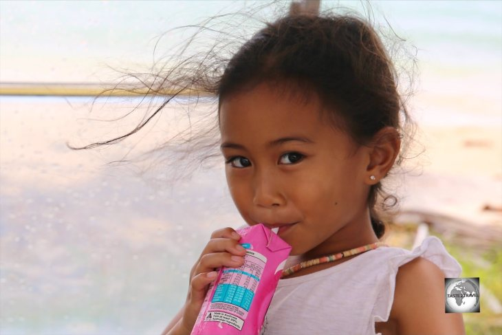 A young Cocos Malay girl on Home Island, Cocos (Keeling) Islands.