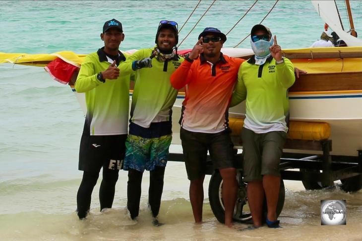 The winners of the Jukong race on Home Island, Cocos (Keeling) Islands.