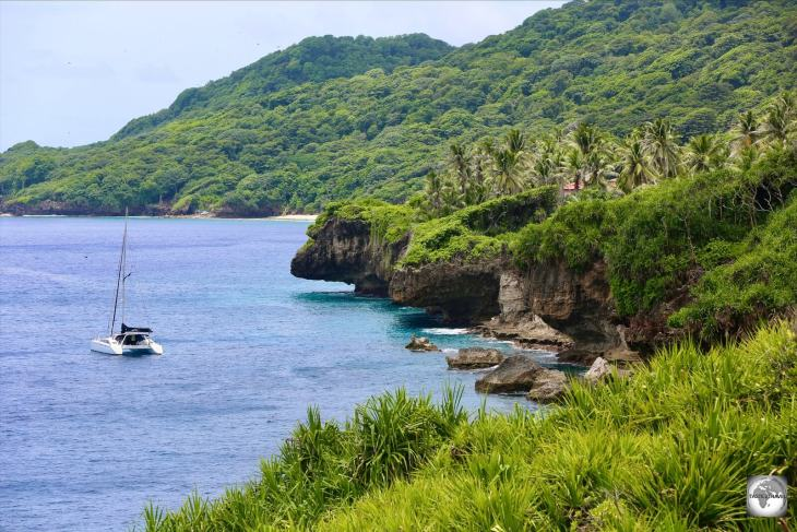A view of the rugged north coast of Christmas Island.