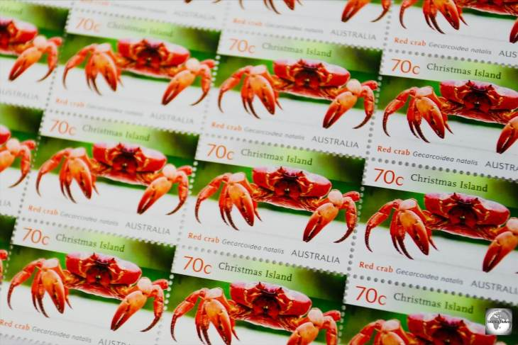 The stamps of Christmas Island feature the rich fauna and flora of the island.