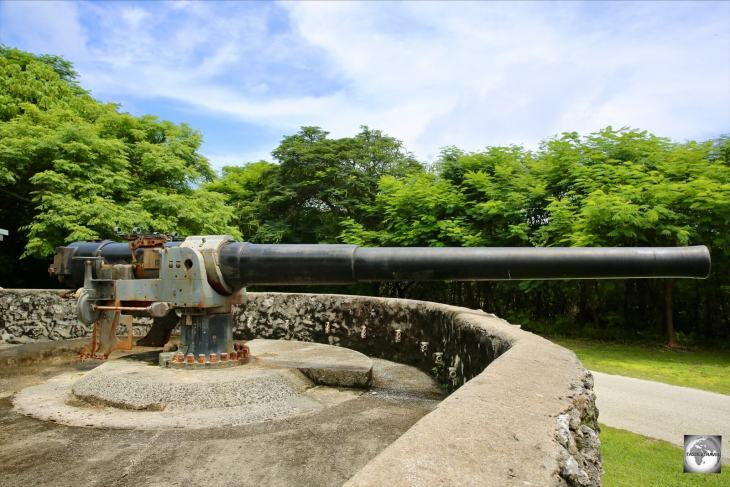 The WWII gun emplacement on Christmas Island.