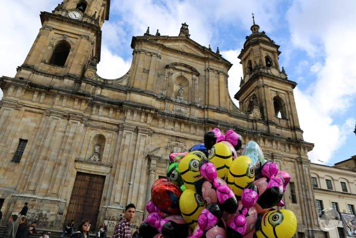 The current Cathedral Primada in Bogota is the 4th church to be built on this site on Plaza Bolivar, with the first cathedral being built between 1556-1565.