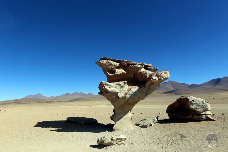 The Árbol de Piedra (Rock Tree), which inspired Salvador Dalí, is an isolated rock formation located in the Eduardo Avaroa Andean Fauna National Reserve in southern Bolivia.