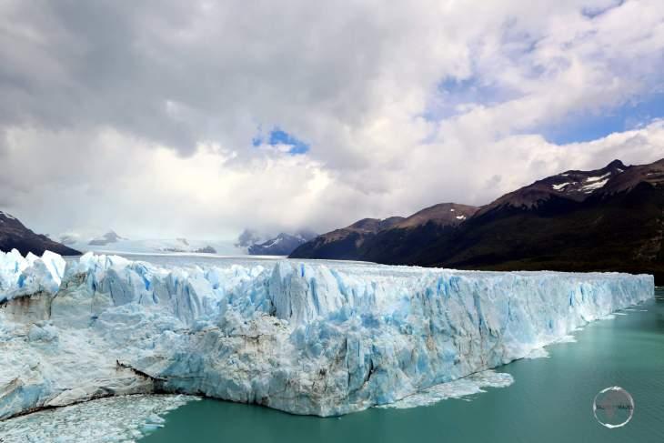 The 250 km2 (97 square mi) Perito Moreno Glacier is one of the most important tourist attractions in Argentine Patagonia.