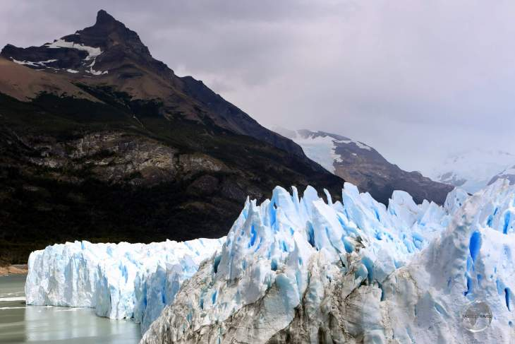 A view of the Perito Moreno Glacier, a highlight of the Los Glaciares National Park, in Argentine Patagonia.
