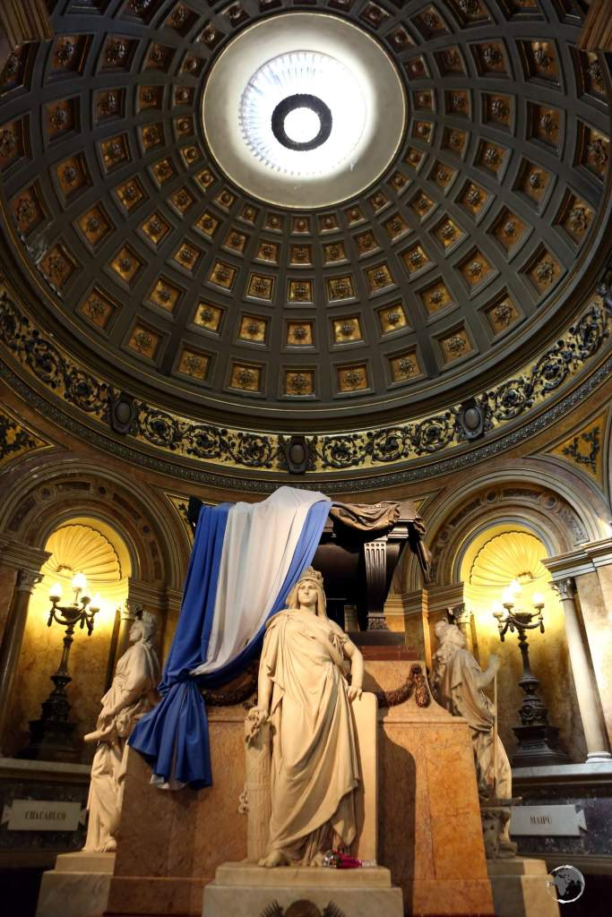 The tomb of General José de San Martín, liberator of Argentina, Chile, and Peru is a highlight of the Catedral Metropolitana in Buenos Aires.