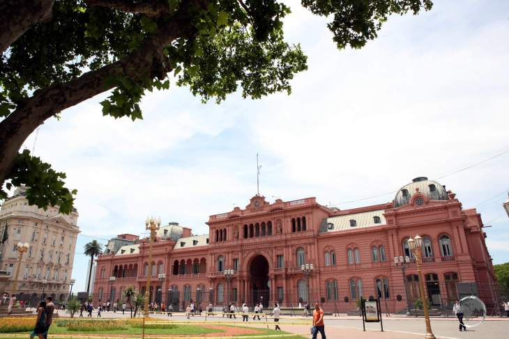 Located in the heart of Buenos Aires, the Casa Rosada (Pink House) is the seat of the Argentine national government and houses the president's office.