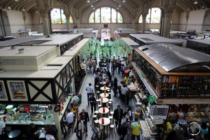 A view of the Mercado Municipal de São Paulo, the main market in downtown São Paulo.