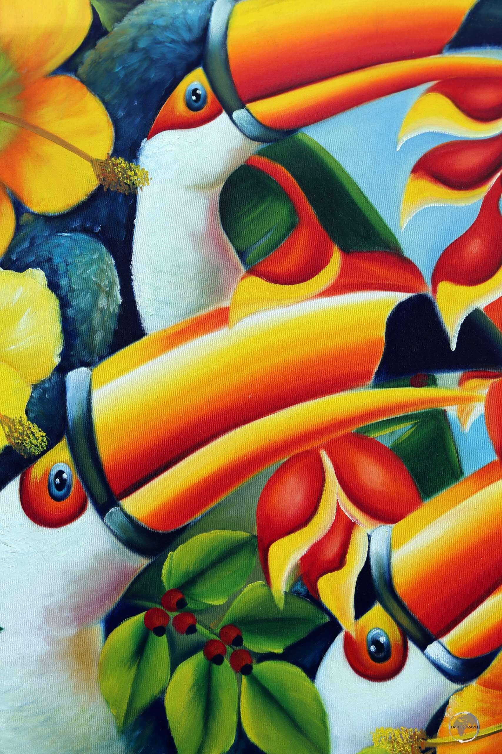 Colourful artwork in Salvador, Brazil.