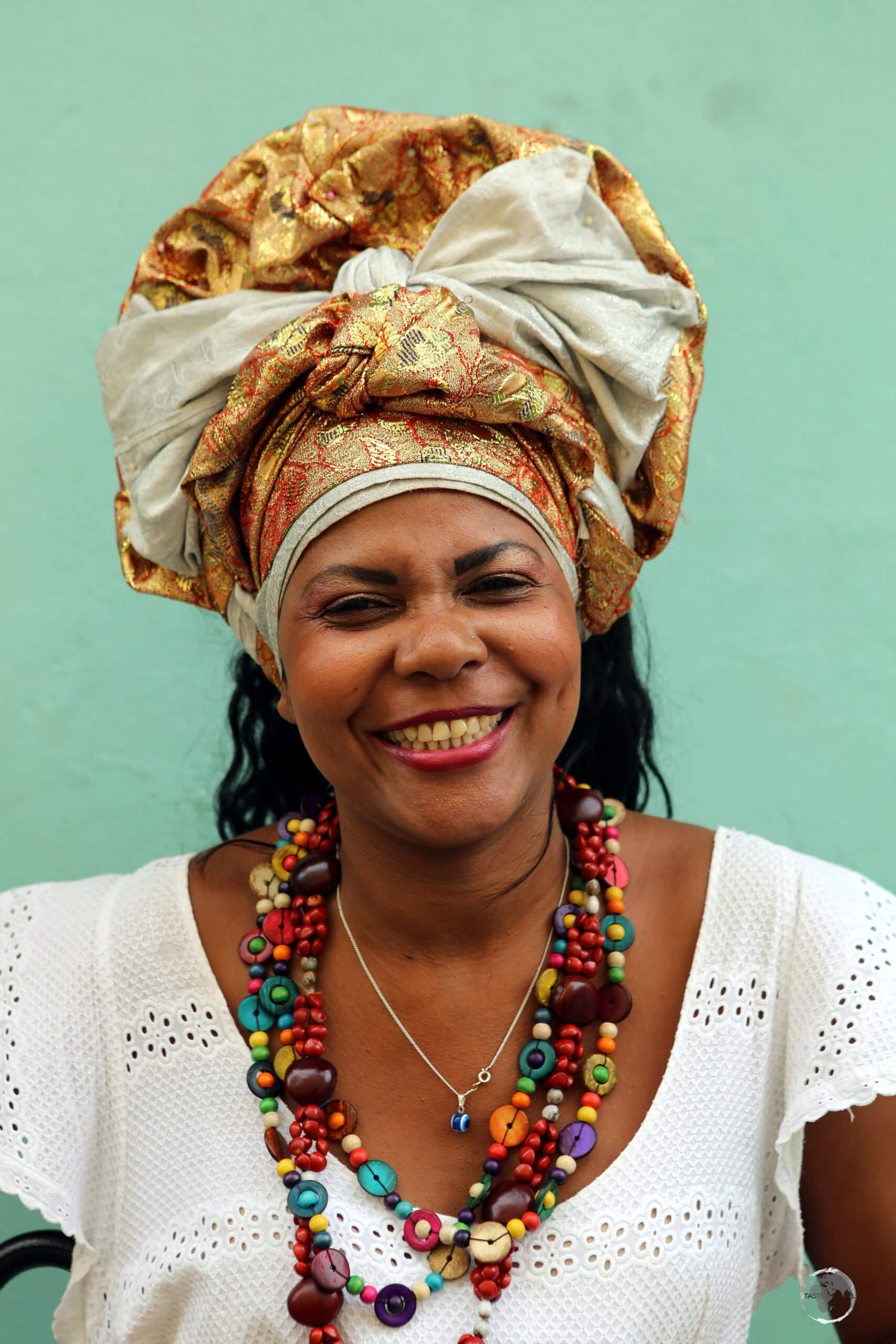 A friendly local in the old town of Salvador, the vibrant and colourful capital of Brazil's state of Bahia.