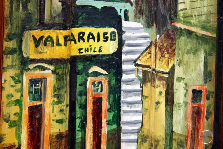 The streets of colourful Valparaíso are lined with street art, all of which is encouraged by the local municipal authorities since it boosts tourism to the city.