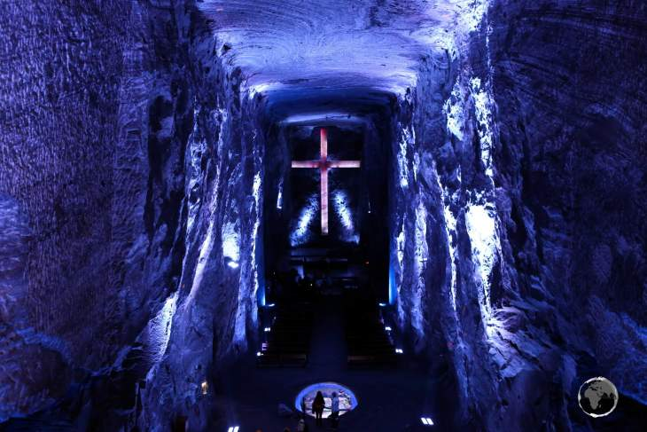 Zipaquirá is famous for its huge 'Salt Cathedral', an underground church built inside a former salt mine.