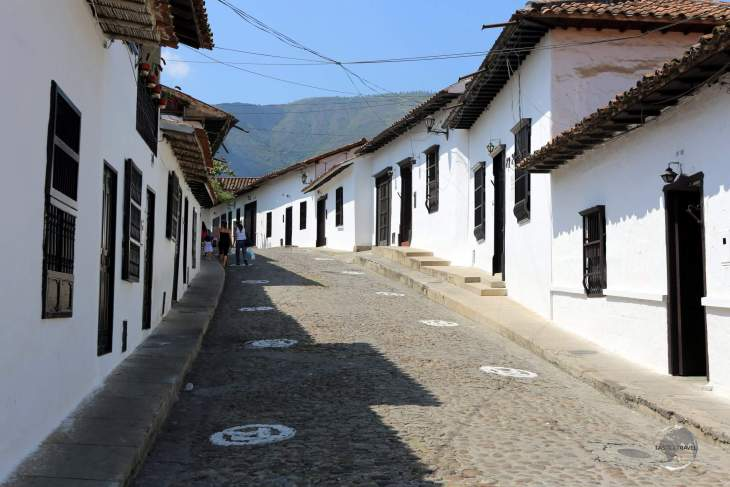 """Thanks to a strict building code, the town of Girón is known as """"La Ciudad Blanca' (The White City) due to every building being covered in whitewash."""