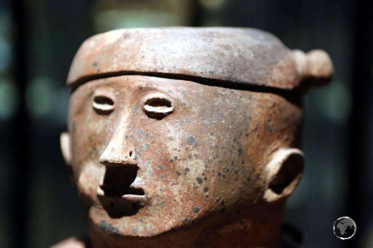Pre-Colombian artwork at the National Ethnographic Museum of Ecuador in Quito.