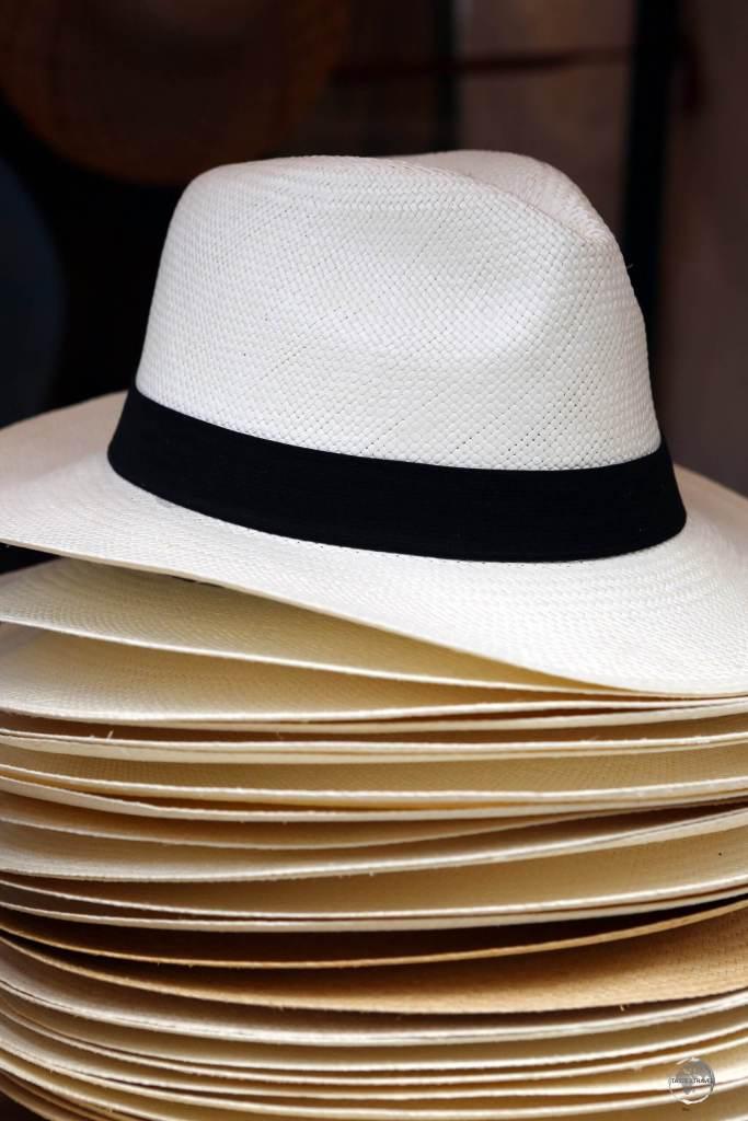 Despite their name, 'Panama hats' are actually handmade in Ecuador.