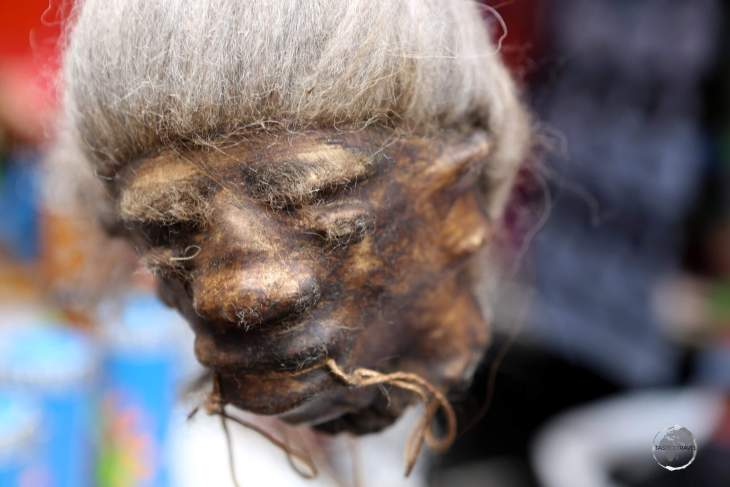 Of the many items on sale at the weekly Otavalo craft market, fake shrunken heads are possibly the most bizarre and obscure!