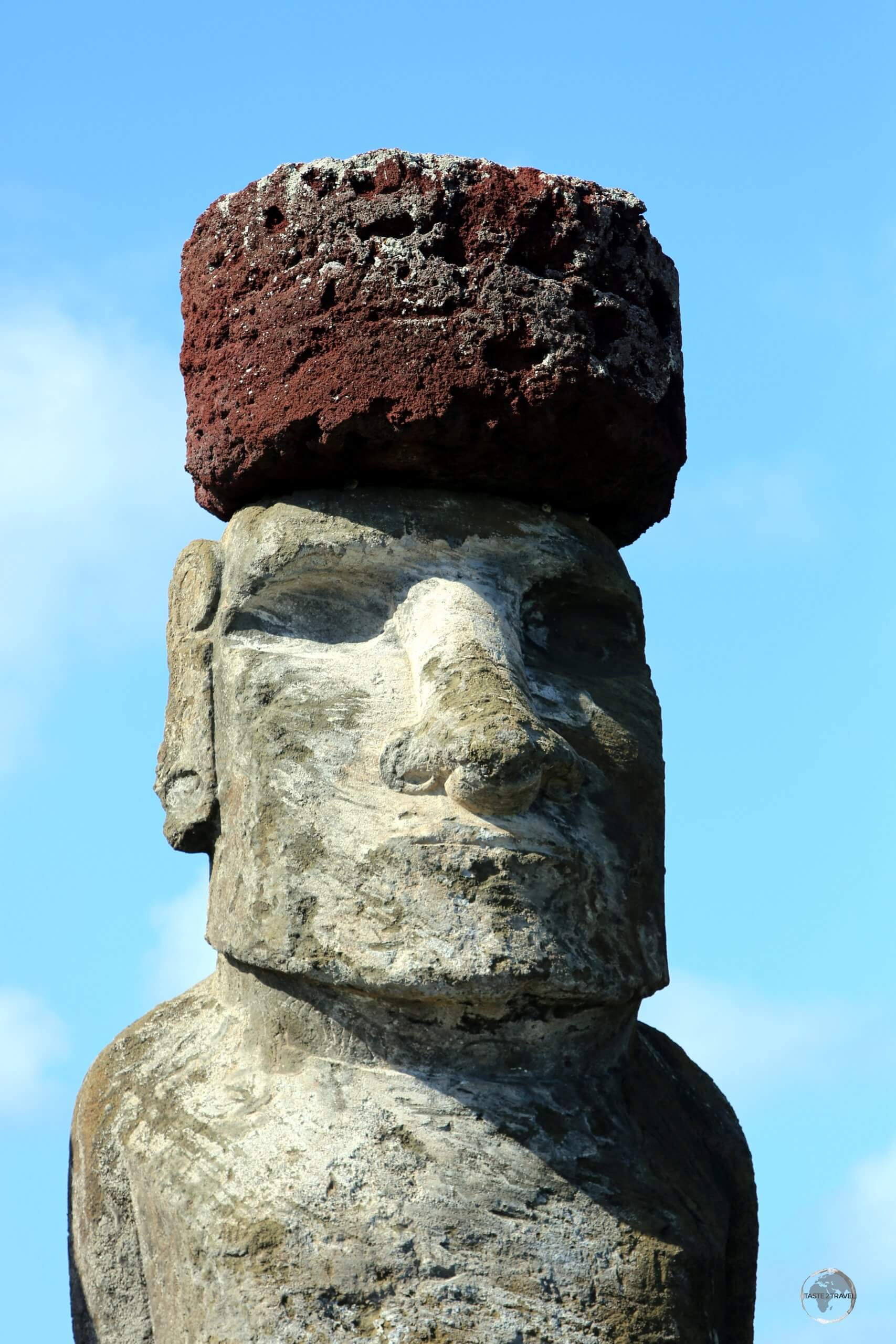 Pukao (topknots) were not made until the 15th - 16th centuries and are later additions to the moai, supposedly placed to indicate the power of the individual represented.