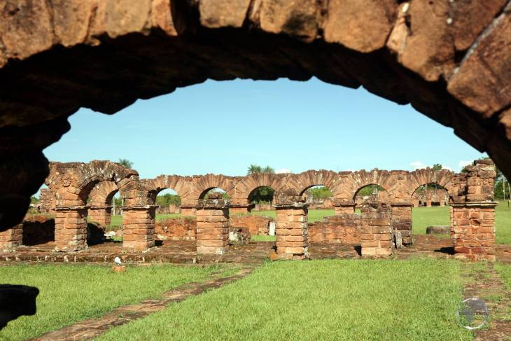 Located near the modern day Paraguay city of Encarnación, the Jesuit mission of 'La Santísima Trinidad de Paraná' was originally constructed in 1706 as a self-sufficient city.