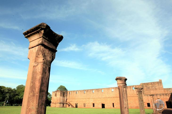 Located near the modern Paraguay city of Encarnación, and just across the river Paraná from Argentina, 'Jesús de Tavarangue' was a Jesuit mission which was founded in 1760.