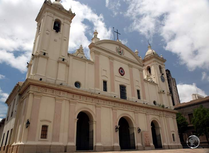 Inaugurated in 1845, the 'Metropolitan Cathedral of Our Lady of the Assumption' (also called simply Asunción Cathedral) is the main Catholic church in Asunción.